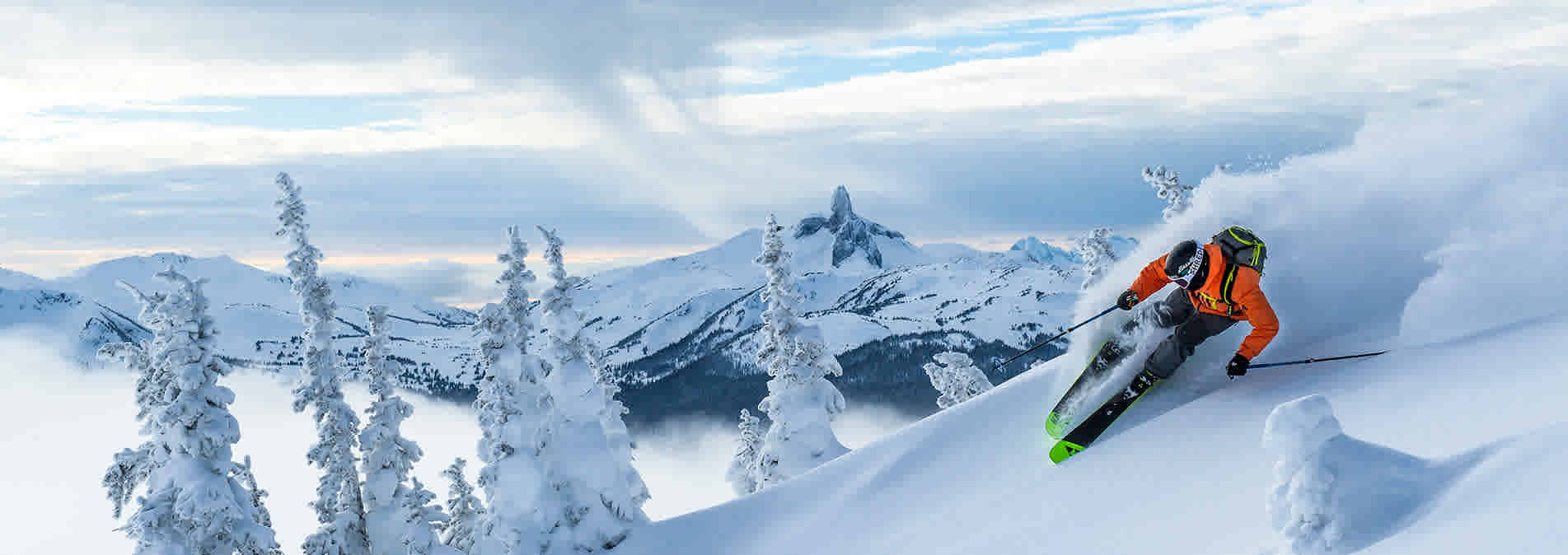 Skiing in Whistler BC, Canada