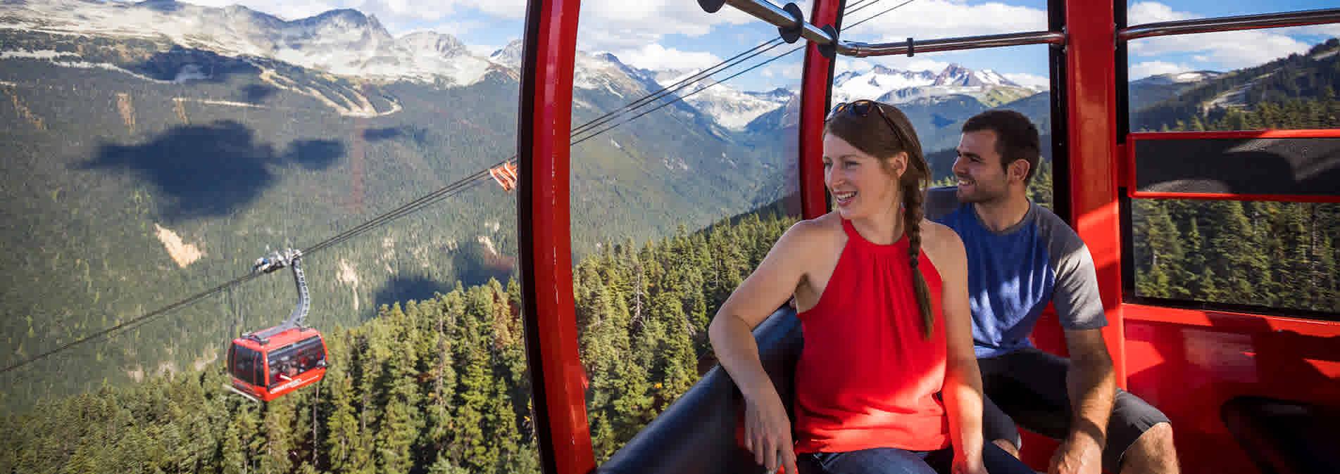 Sightseeing on the PEAK 2 PEAK Gondola in Whistler BC