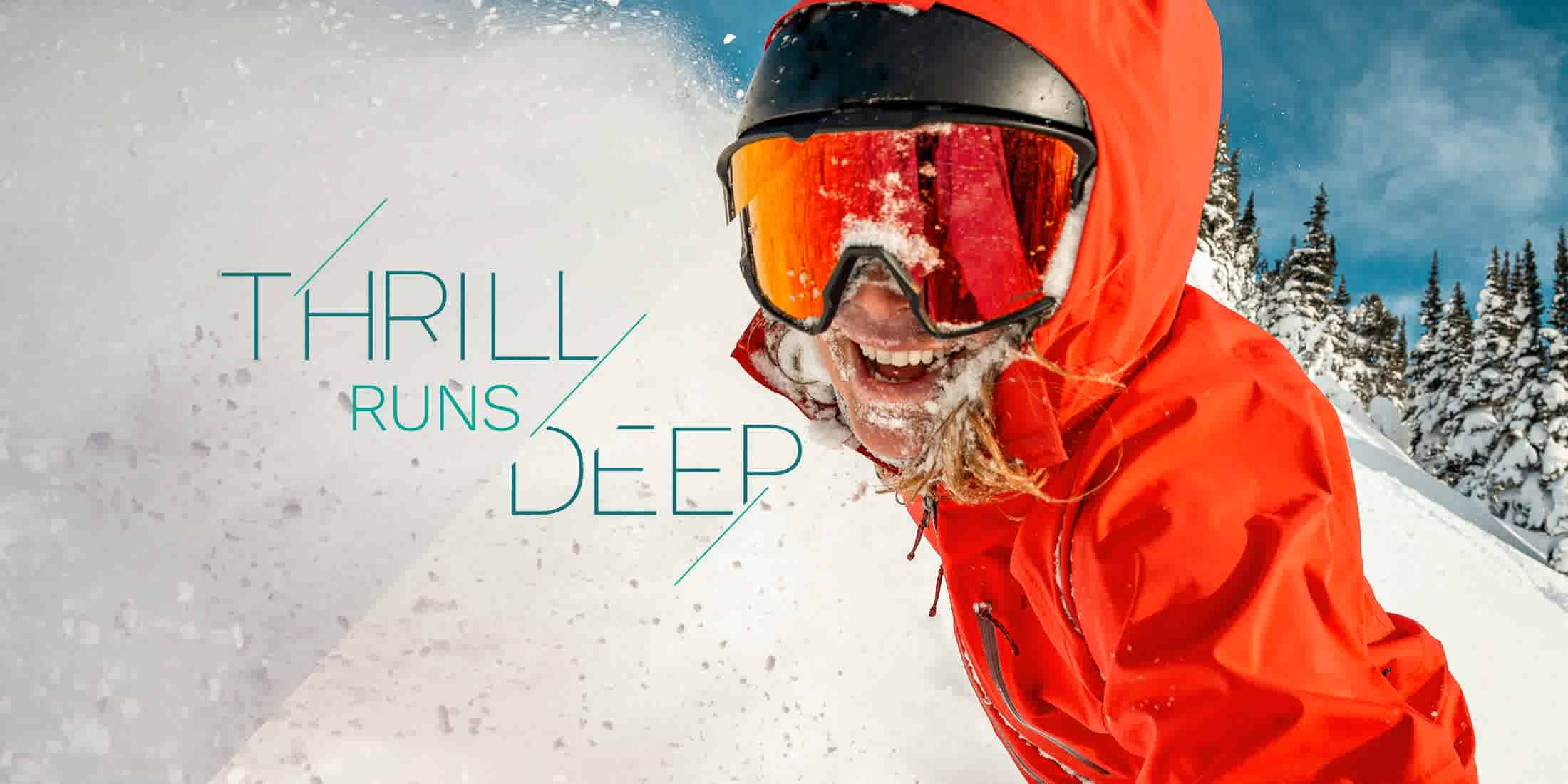 Thrill runs deep when skiing in Whistler BC Canada