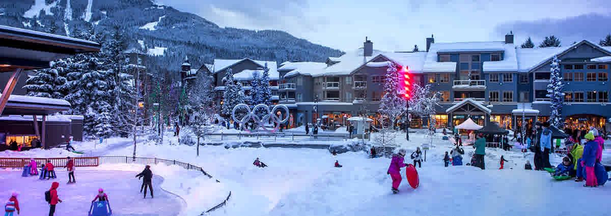 Whistler Village in the Winter