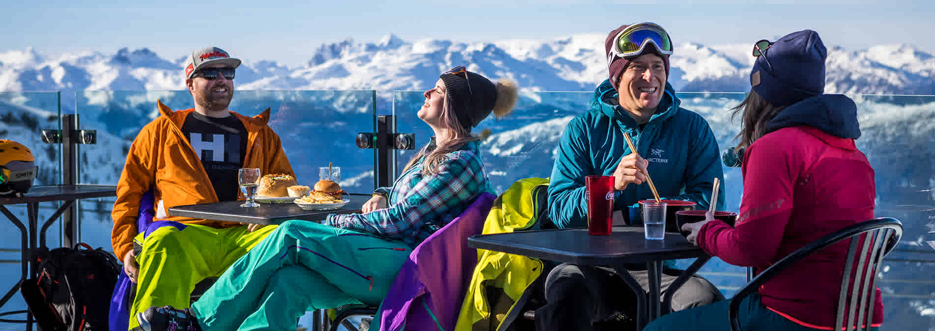 Spring patio time at Whistler Blackcomb, Whistler BC, Canada