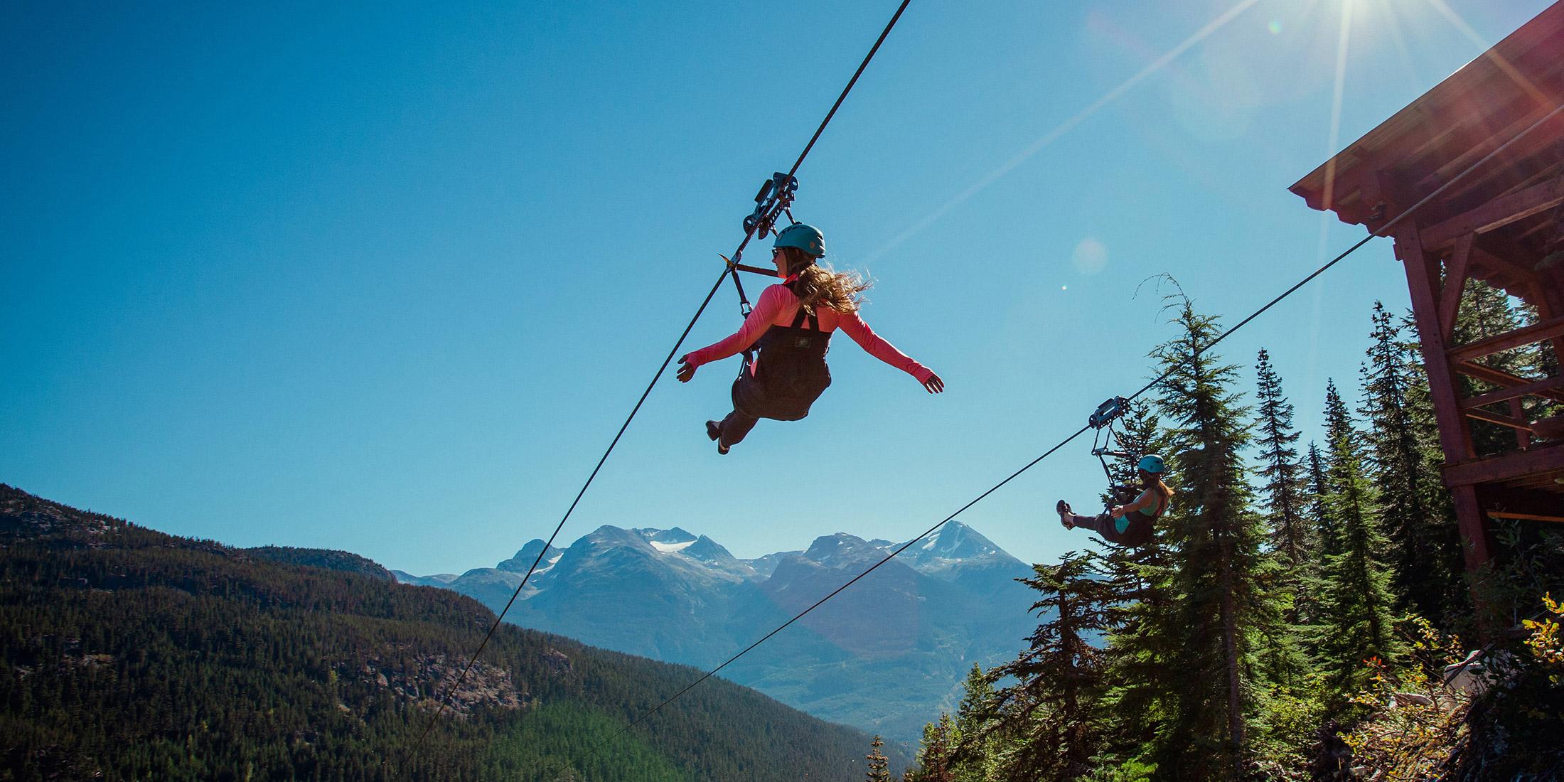 Ziplining Whistler