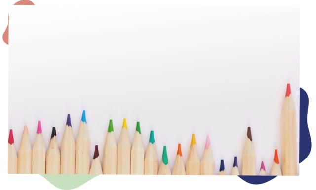 Pennor i olika färger för att beskriva användbarhet och tillgänglighet