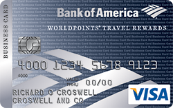 Bank of America® WorldPoints® Travel Rewards for Business Visa® credit card