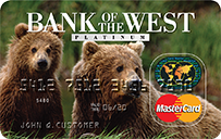 Bank of the West Platinum MasterCard Credit Card