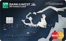 Bank of the West Platinum Rewards MasterCard Credit Card