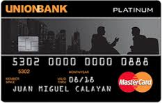 Union Bank Platinum Edition Visa Card