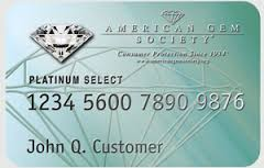American Gem Society Credit Card
