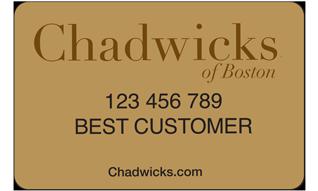 Chadwicks Credit Card