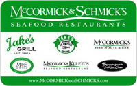 McCormick and Schmick's Gift Card - $50.00