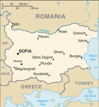 BG country map