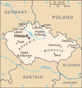 CZ country map