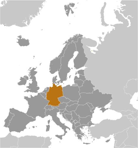 DE country location