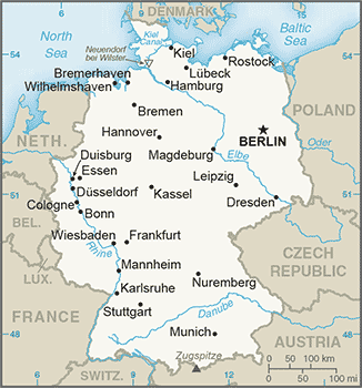 DE country map