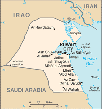 KW country map