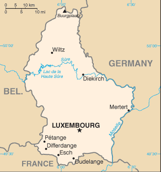 LU country map