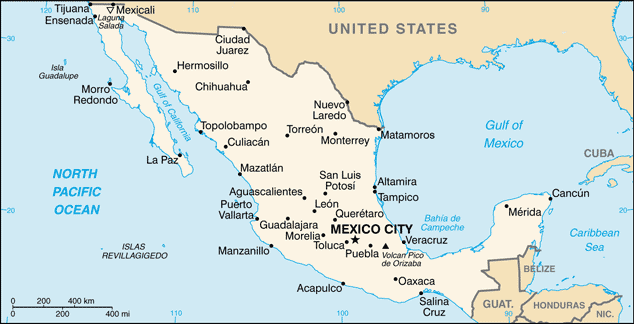 MX country map