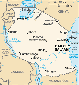 TZ country map