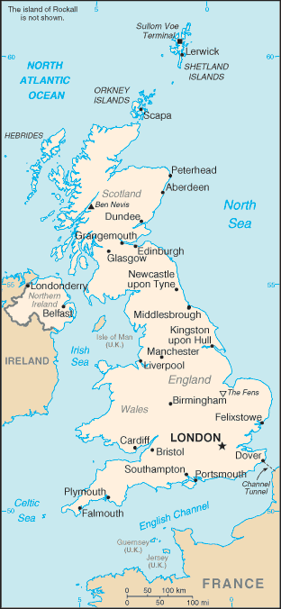 UK country map