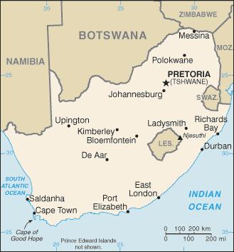 ZA country map