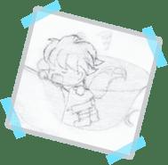 Rough Hand Sketch of Scotty