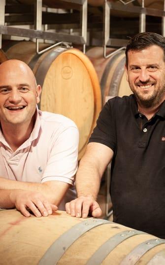 Die beiden Brüder vom Weingut Emil Bauer