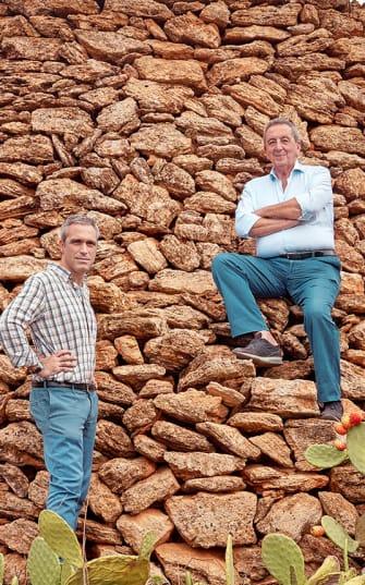 De twee eigenaren van Cantina San Marzano