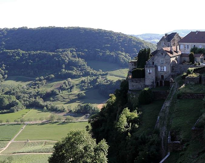 Steiler Weinberg im Burgund