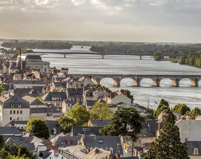 Das eindrucksvolle Loire-Tal von oben