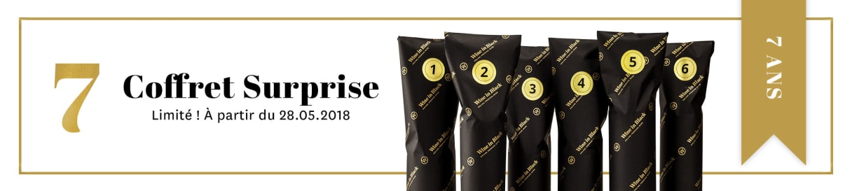 Coffret Surprise anniversaire Wine in Black