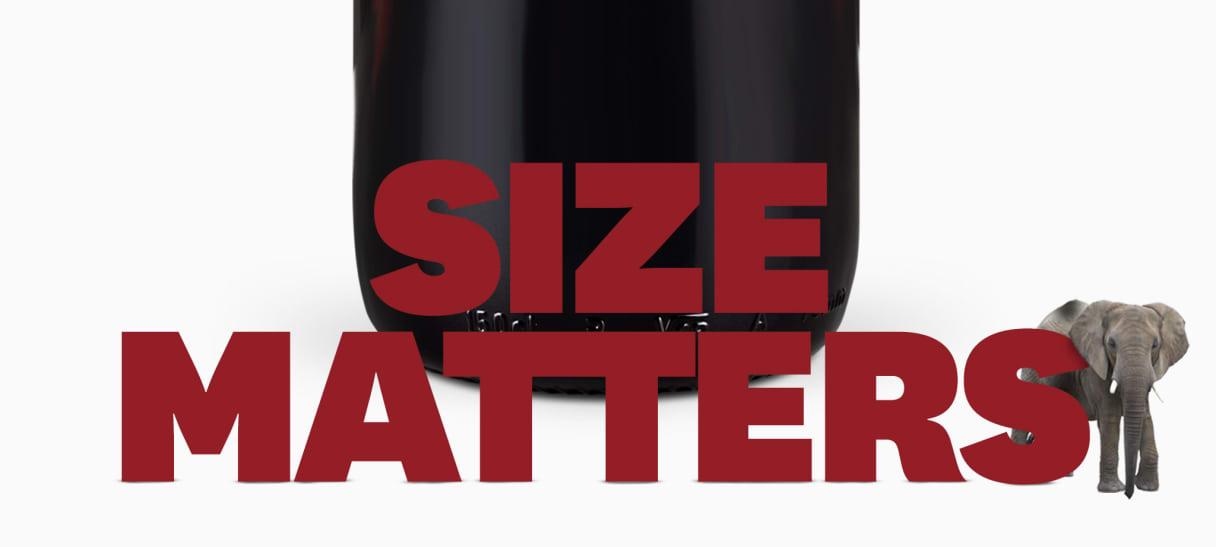Wine in Black Big Bottles