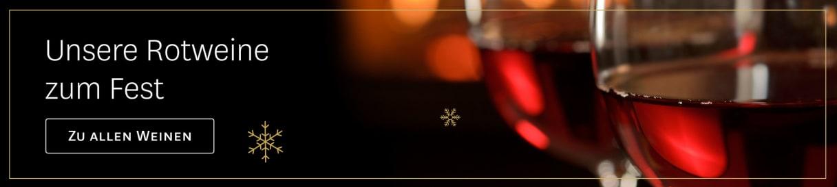 Rotweine im Advent