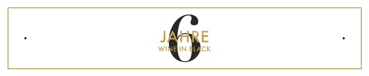 6 Jahre Wine in Black