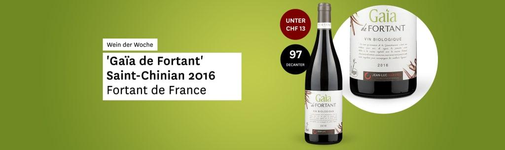 Wein der Woche: 'Gaïa de Fortant' Saint-Chinian 2016