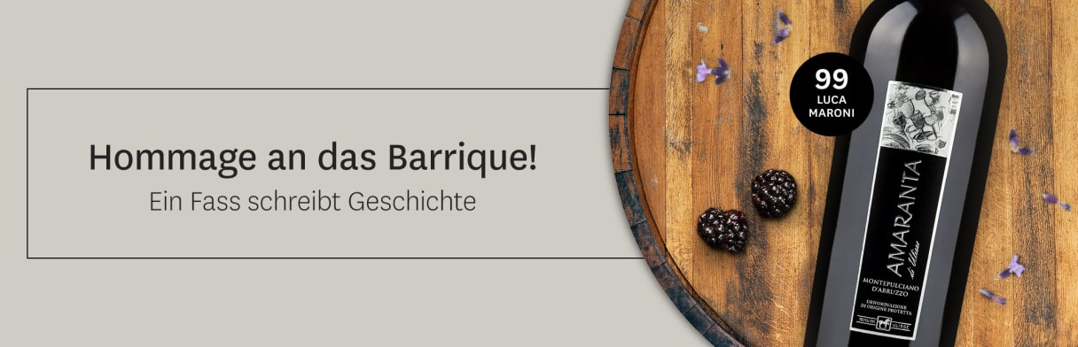Barrique-Weine bei Wine in Black