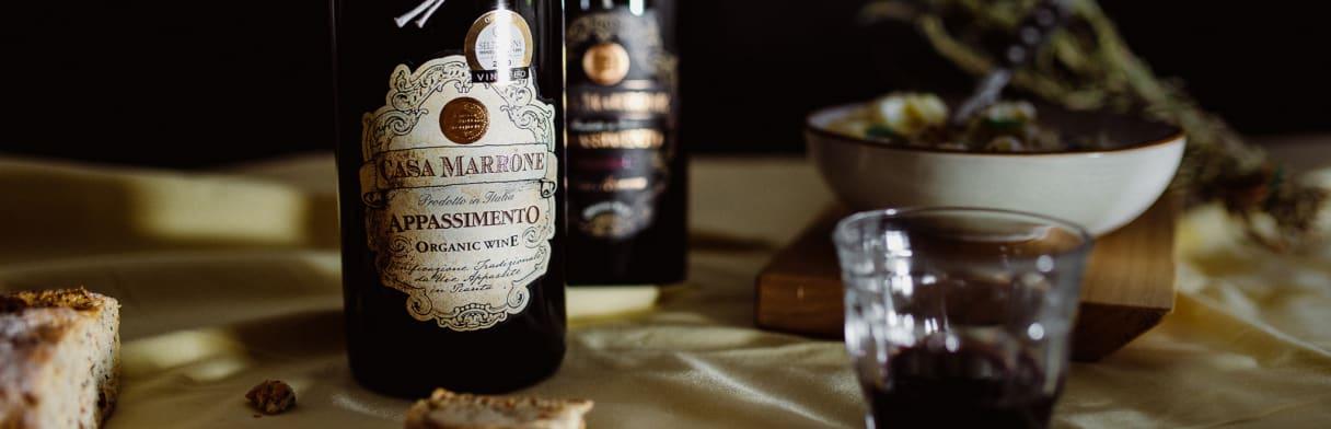 Casa Marrone, Wein, Apulien, Italien, Appassimento