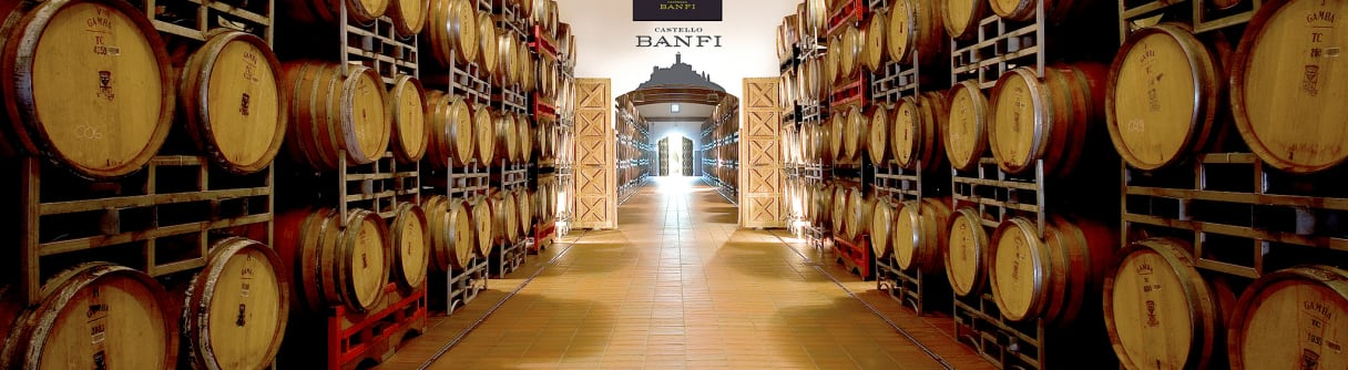 L'impressionnante cave à vin du Castello Banfi