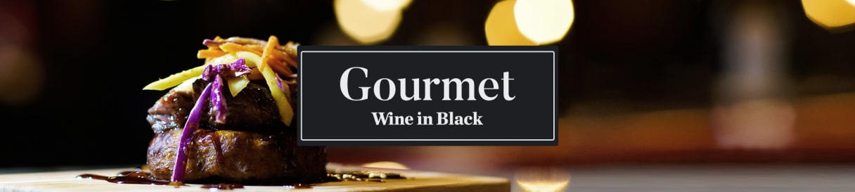 Wine in Black Gourmet