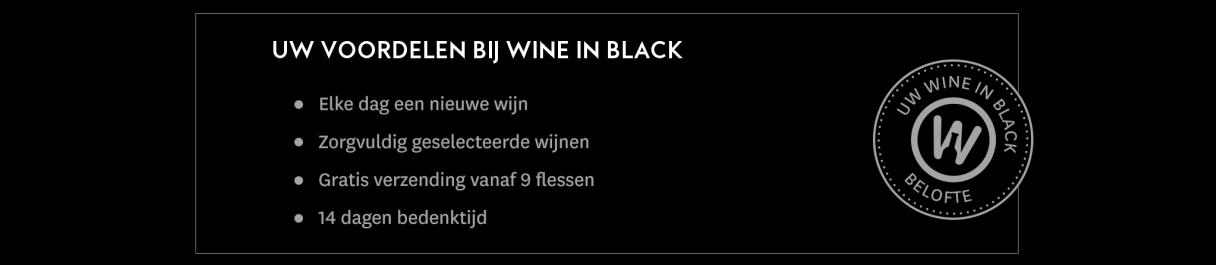 Uw voordelen bij Wine in Black