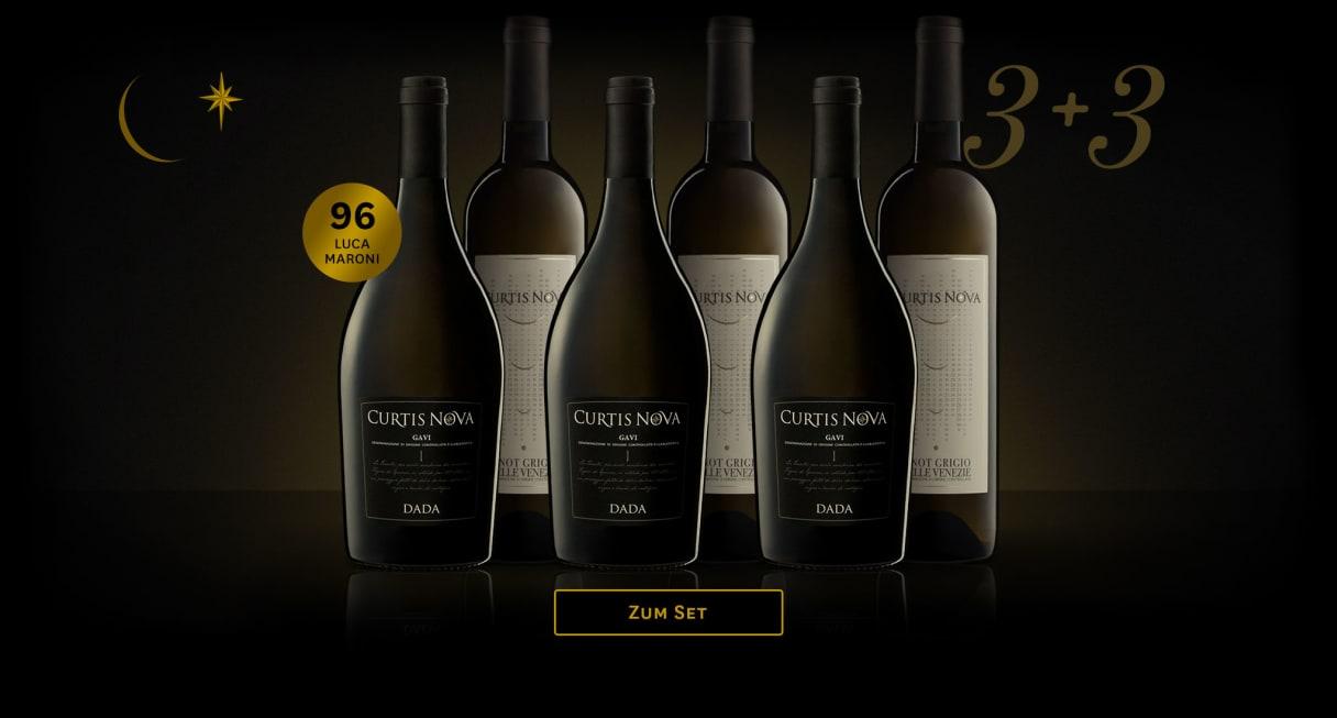 3 Gavi + 3 Pinot Grigio