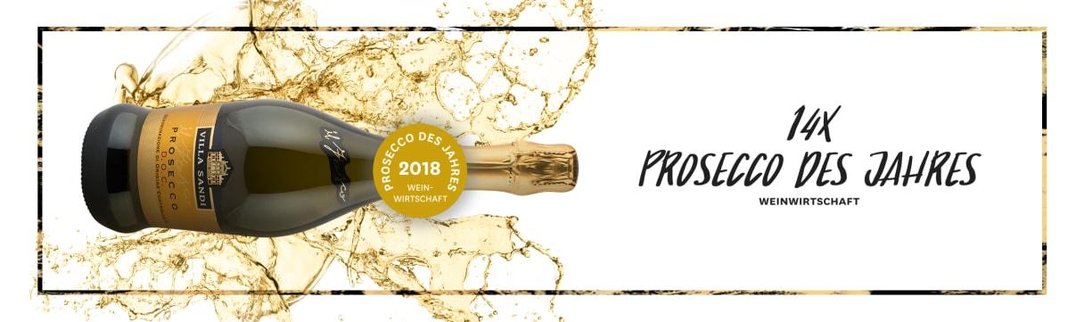 14x Prosecco des Jahres - Auszeichnung durch Weinwirtschaft Magazin