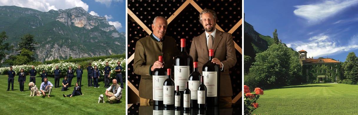 Drie impressies van het Tenuta San Leonardo-team en hun wijnen