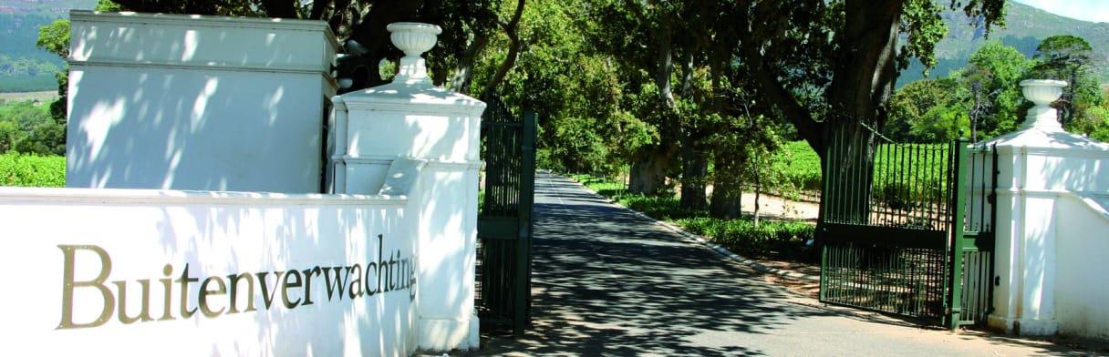 Buitenverwachting Eingangstor zum Weingut