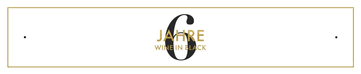 6 Jahre Wine in Black