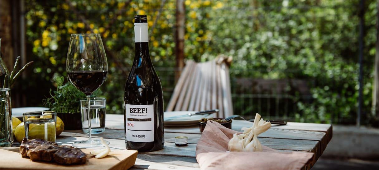 BEEF Rot Wein 2019 - Cabernet Sauvignon, Barbera, Carménère, Malbec