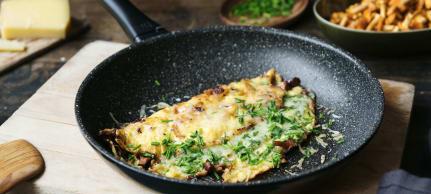 Omelette mit Pfifferlingen