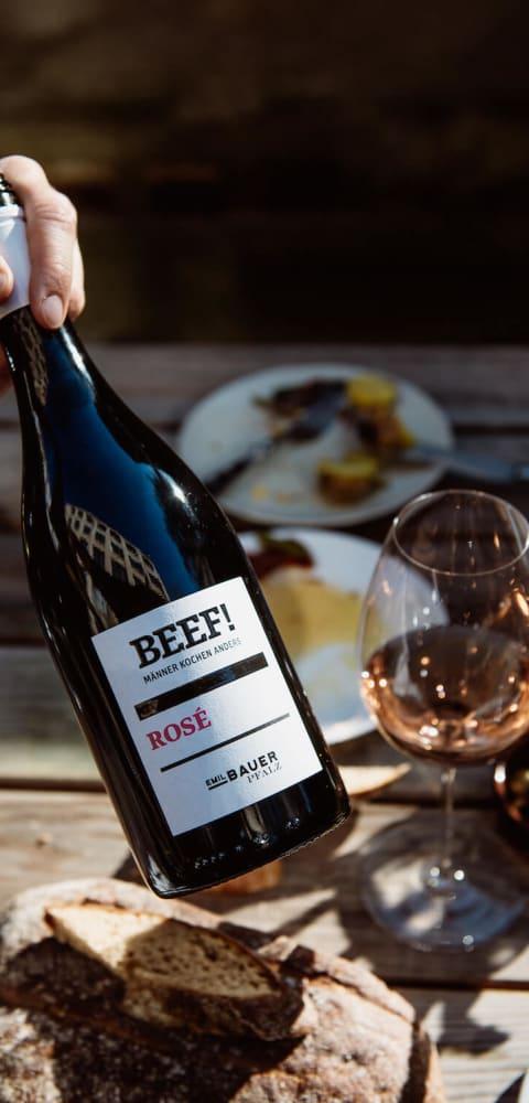 Beef rosé Wein Emil Bauer & Söhne - Cabernet Sauvignon, Barbera, Carménère, Malbec