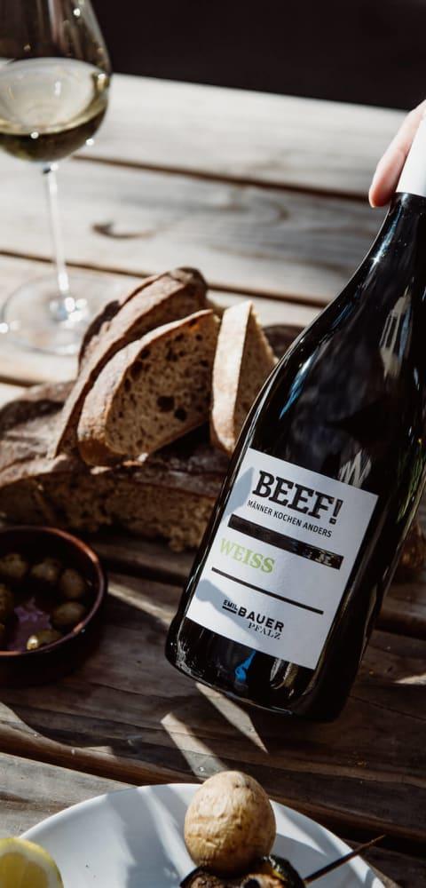 Beef weiss Wein Emil Bauer & Söhne - Cabernet Sauvignon, Barbera, Carménère, Malbec