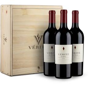 Offre découverte Vérité Winery '3 cuvées parcellaires' 2015 + caisse bois d'origine