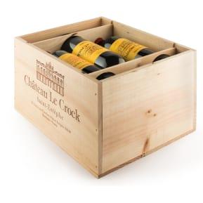 Caisse bois 6 bouteilles - Château Le Crock Saint Estèphe 2012